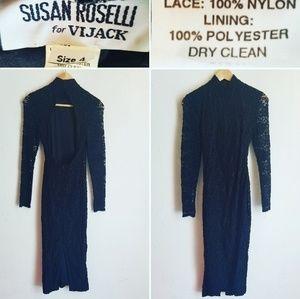Vintage Lace Susan Roselli for Vijack Dress